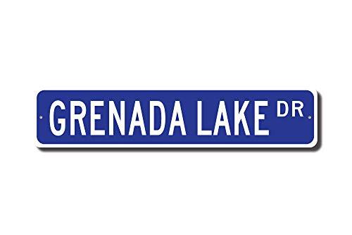 Mississippi Street Sign (C-US-lmf379581 Grenada Lake Grenada Lake Sign Grenada Lake Gift Grenada Lake Visitor Mississippi Lake Custom Street Sign Quality Metal Sign)