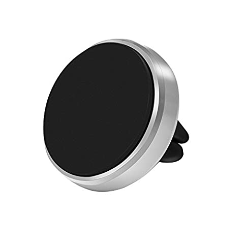 Car Mount, Bengoo Magnetic Car Air Vent Car Mount Phone Holder, Glossy Silver Metal Edged for iphone 6 plus/iPhone 6S/6, Samsung S6/S6 Edge, LG G3, Apple iPhone 5S 5C 5 4S, Samsung S5 S4 S3, HTC M9 and other