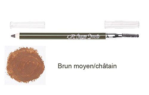 Crayon à sourcils Waterproof Brun moyen avec brosse