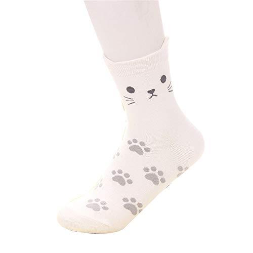 Damen Socken Baumwolle Thermal komfortable Mädchen Socken Malerei Cartoon Süße Lustige Nette Lässige Frauen Socken,Süßigkeiten Farbe süße Katze Cartoon Socken 10 Paare A4 35-42 -