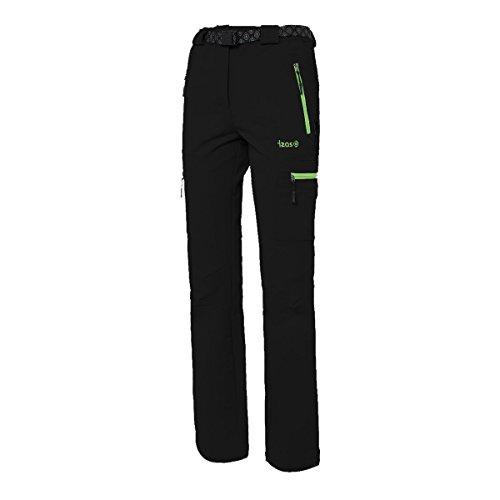 IZAS Wengen Pantalon Femme Noir/Vert Clair FR : XL (Taille Fabricant : XL)