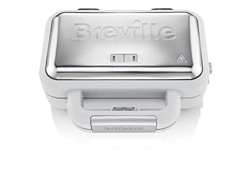 Breville VST070X DuraCeramic-Jumbo-Sandwichtoaster / Kratzfest / schnell erhitzend, lange haltbar,...