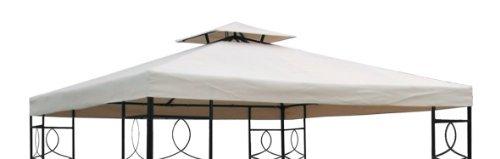 Spetebo Pavillon Ersatzdach 3x3 Meter - beige - wasserdicht/Kaminabzug - Pavillondach