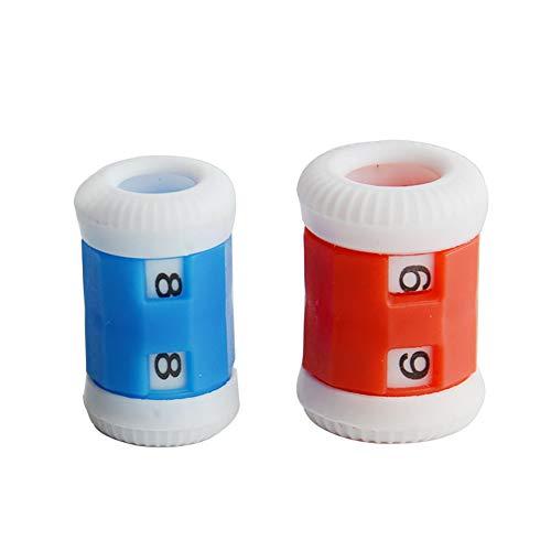 Mein Ji 4pcs Ersatz Spitze Fila Zähler Kunststoff Häkelnadel Knüpfhilfe Praktisches Strickzubehör Rot und Blau