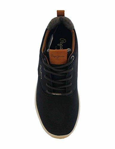 Pepe Jeans London Herren Jayden Nubuck Sneaker Blau