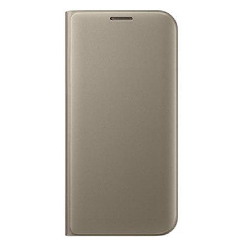 Samsung Flip Wallet - Funda para Samsung Galaxy S7 Edge, color Dorado