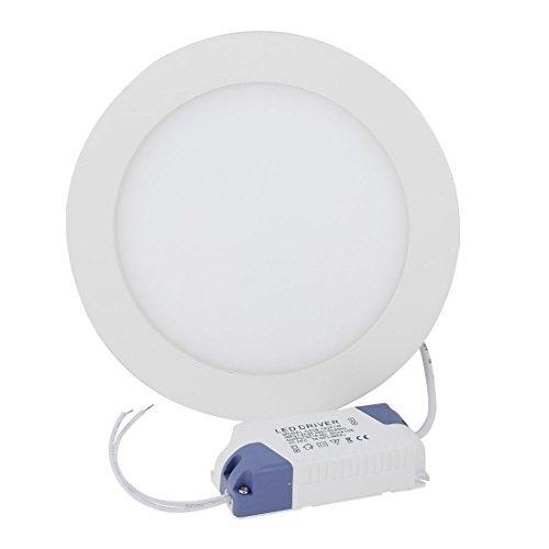 Preisvergleich Produktbild Wechselstrom 85-265V 12W LED-Instrumentenbeleuchtung Runde Deckeneinbauleuchte Lampe Weiß