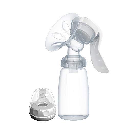 Tiralatte Manuale, Pompa Di Mungitura Portatile Comfort Natural Touch Per L'allattamento Al Seno, Pompa Per Latte Materno Manuale, BPA Free E Silicone 100% Commestibile
