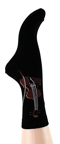 Musik-Socken Geige (39/42) - Schönes Geschenk für Musiker