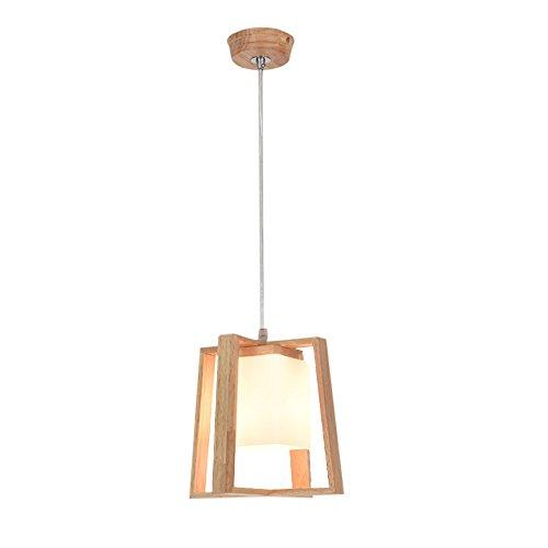 Nordic Log Restaurant Kronleuchter einfache moderne LED-Lampen personalisierte Gang Balkon Tisch bar einzigen Kopf Kronleuchter (Design : A) -
