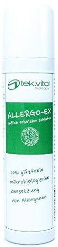 ALLERGO-EX | Allergie | Hausstaubmilben | Milbenmittel | Milbenspray | Hausstaubmilbenallergie | 100% giftfreie Wirkung durch die natürliche Zersetzung von Allergenen | Mikroorganismen verstoffwechseln die Ausscheidungen der Hausstaubmilben | Allergikerspray | Die Alternative zu unkomfortablen Matratzenbezüge, Encasings und chemischen oder pflanzlichen Bioziden