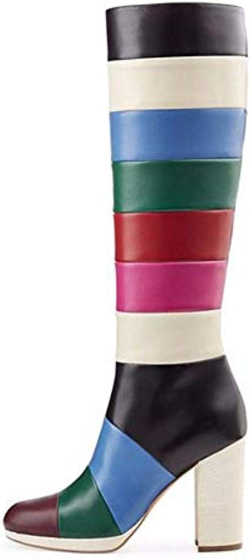 Stivali alti donna Coloreee a contrasto Abbinamento di