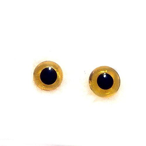 80pcs / Box Bernstein Glas Augen 3-10mm Nadel Filz Material Kit DIY Zubehör Schwarz Bohnen Nadel Typ Auge für Teddy Puppen Puppen Handwerk