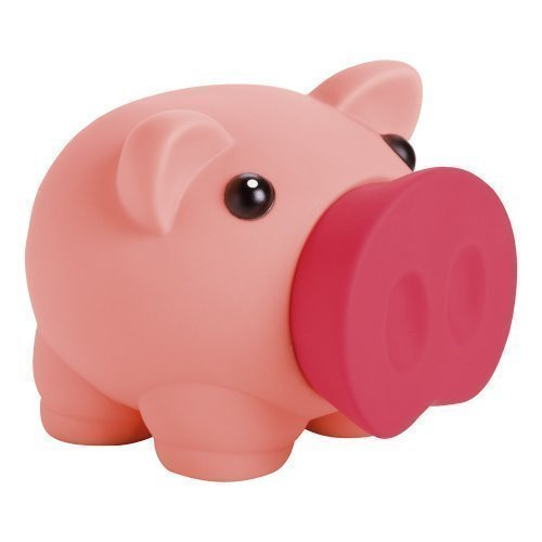 Hucha Novedosa con Forma de Cerdito para Monedas y Billetes - Hucha para Niños - Rosa