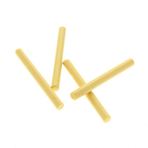 4 x Lego System Stab 4L beige tan Lichtschwert Klinge Zauberstab Figuren Zubehör Waffe für Set Star Wars Harry Potter 8095 4709 4842 7470 6869 30374 ()