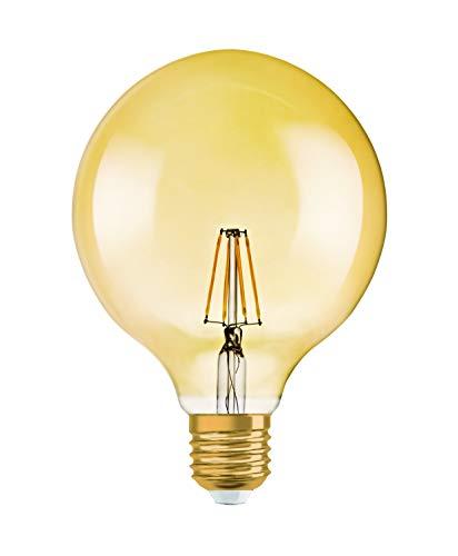 Osram LED Vintage Edition 1906 Lampe, in Ballform mit E27-Sockel, nicht dimmbar, 4.5 W=36 W, Klar, Warmweiß - 2500 Kelvin, 1er-Pack