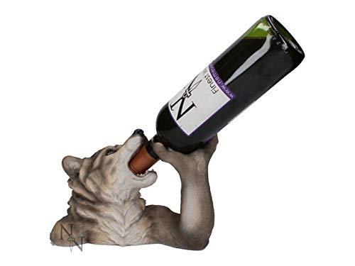 Weird Or Wonderful Nemesis Now Weinflaschenhalter, Weinflaschenhalter, Motiv Wölfe, Gothic -
