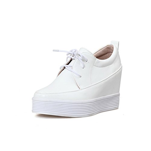 BalaMasa da ragazza, rotondi, in pelle, punta arrotondata, interno piuttosto Imitated pompe-Shoes White