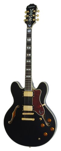 epiphone-sheraton-ii-ebony-accastillage-dore-guitare-electrique-demi-caisse