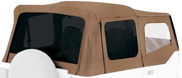 Rampage Jeep 99417 Spice Denim Tinted Window Jeep Replacement Soft Top by RAMPAGE PRODUCTS