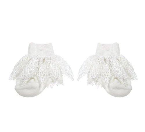 Girl Socks Baby Mädchen (0-24 Monate) Socken weiß 6-12 Monate (Lacy Socken Für Babys)