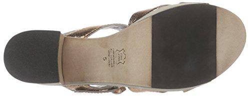 Kennel und Schmenger Schuhmanufaktur Erica Damen Knöchelriemchen Sandalen mit Blockabsatz Mehrfarbig (rosé/natur 308)