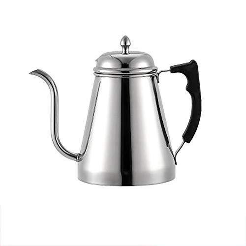 MYD888 Edelstahl Über Kaffee Gießen Wasserkocher Schwanenhals Wasserkocher Hand Drip Tee Pot Mit Lang Schlank Auslauf Silber 1000ML