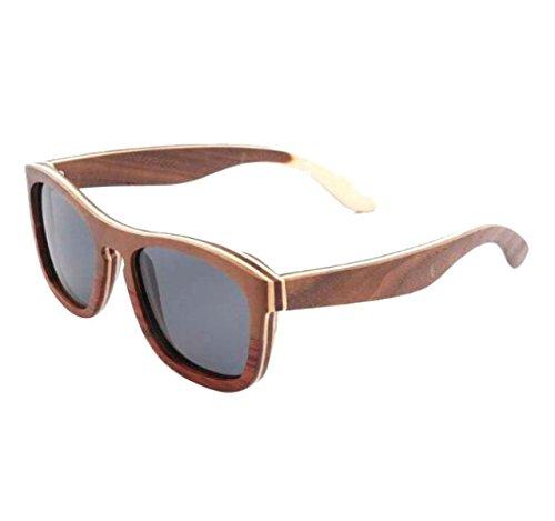 HAOYUXIANG2017 Europa Und Die Vereinigten Staaten Holz Polarisierte Sonnenbrillen Handgefertigte Bambus Gläser,C1