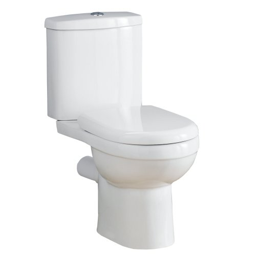 Modern White Bathroom Breve Dual Flush Toilet Pan and Cistern complete with Soft Close Seat