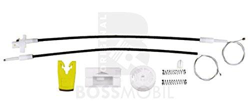 Bossmobil Renault Megan 1 I (BA0/1_),Classic(LA0/1_),Coach (DA0/1_), Grandtour (KA0/1_), Delantero izquierdo, kit de reparación de elevalunas eléctricos