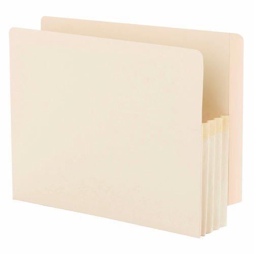 Tab Datei-jacke End (SMEAD Ende Tab Datei Tasche, verstärkte gerade geschnittene Tab, 3–1/5,1cm Expansion, Manila Zwickel Größe, Buchstaben, Manila, 25pro Box (75124))