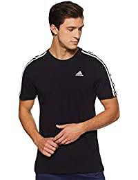 Adidas Men's Striped Regular Fit T-Shirt