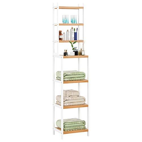 Homfa Estanterías separadas Bambú baño 7 niveles