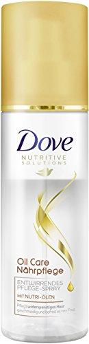 Dove Haarpflege Entwirrendes Pflegespray Oil Care Nährpflege, 3er Pack (3 x 200 ml)