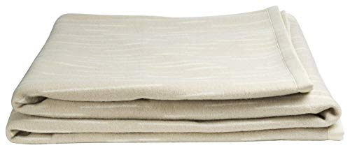 Zenoni & colombi coperta vivion beige in 100% pura lana vergine merinos woolmark (matrimoniale)