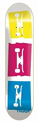 Trap Skateboard Profi Deck 3 Logo White 7.6 inch