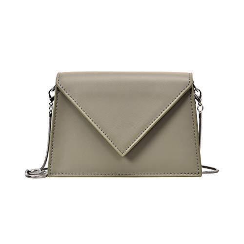 Tohole Frauen Kleine Crossbody GeldböRse FüR Leder UmhäNgetasche Handtasche Telefon MäDchen Schultertasche Kette Clutch Mini Vintage Handbag(grün) Surefire Mini