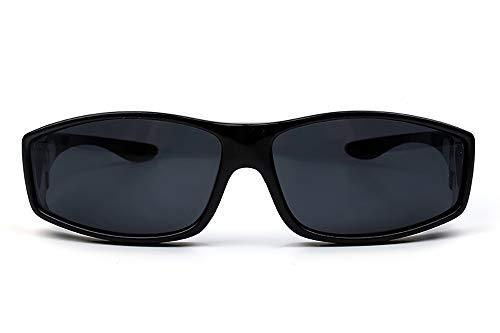 YJHW Modische Sonnenbrille, Die Über Eine Normale Brille Für Damen Passt. Ideal Zum Fahren, Radfahren, Sport,Black