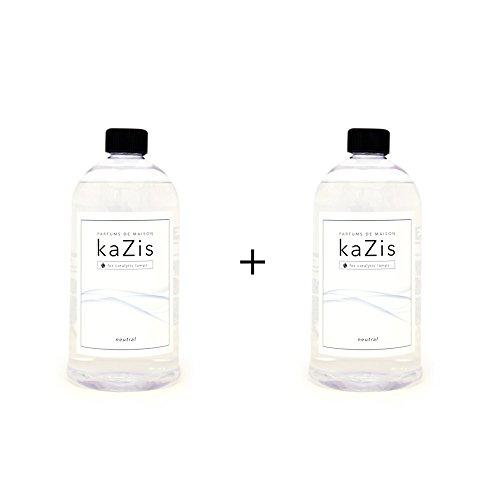 KAZIS I Duft-Set 2 Liter I Passend für alle katalytischen Lampen I 2 x Neutral I Nachfüll-Öl I 2 x 1000 ml I 2 x 1 Liter
