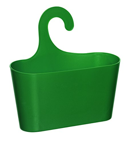 Wohnideenshop Duschkorb mit Haken zum Einhängen grün und 15 anderen Farben zum auswählen