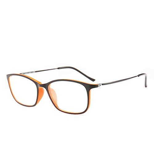 Shiduoli Kunststoff-Stahl-Brillengestell Unisex Brillengestell Brillengläser (Color : Style4)