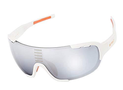 KnBoB Sportbrille Fahrrad Herren Sportbrille Mit Sehstärke Radbrille Selbsttönend Weiß
