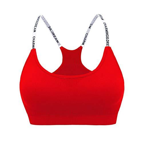WSJIABIN No Steel Ring Letter Shoulder Strap Yoga Fitness Bra high Strength Quick-Drying Training Running Shockproof Underwear