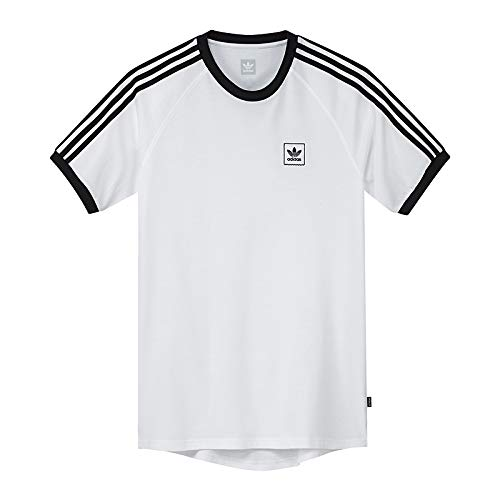 adidas Herren Cali BB T-Shirt, White/Black, 2XL -