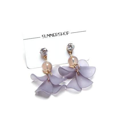 Fee Korea Peeling Acryl Blütenblätter Diamant Perlen Mädchen Temperament Ohrringe Ohrclips