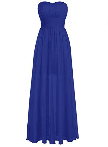 Bbonlinedress Lang Chiffon Lace Herzform Prom Brautjungfern Kleid Abendkleider Royalblau