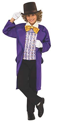 Kid Willy Wonka Kostüm - Rubie's offizielles Kinderkostüm zu Willy Wonka