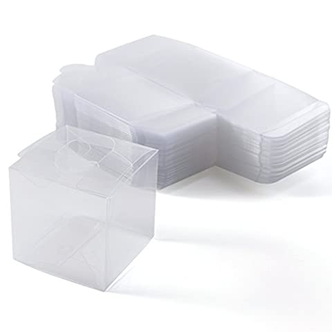 Cube Transparent - 50 x Boîte à dragées pvc transparent