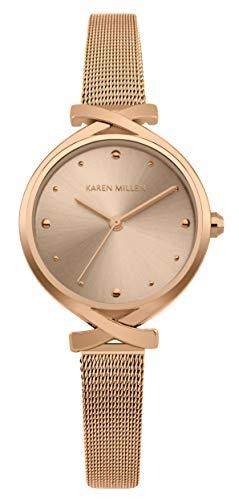 Karen Millen Reloj Analógico para Unisex Adultos de Cuarzo con Correa en Aluminio KM173RGM