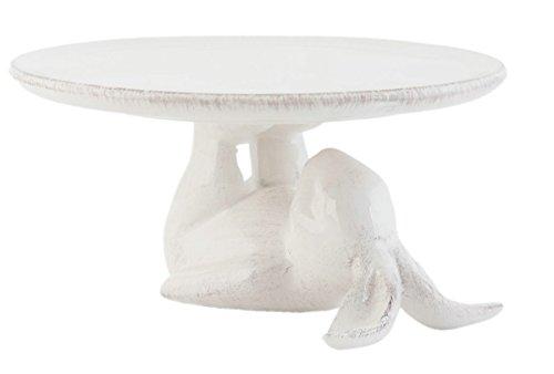Clayre & eef - alzata bianca c/ coniglio 17x8cm